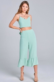 blue blush Ruffle Pant Set - Product Mini Image