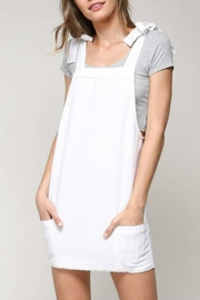 blue blush Shoulder-Tie Overall Dress - Product Mini Image