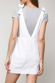 blue blush Shoulder-Tie Overall Dress - Front full body