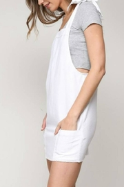blue blush Shoulder-Tie Overall Dress - Side cropped
