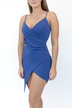 blue blush Sleevless Crossover Dress - Product List Image