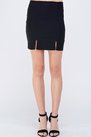 blue blush Slit Mini Skirt - Product Mini Image