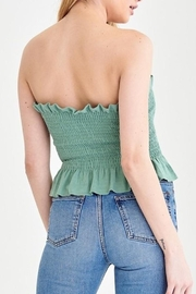 blue blush Smocked Strapless Top - Side cropped