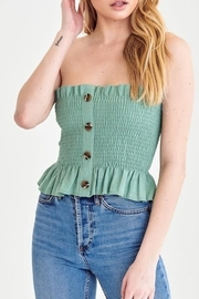 blue blush Smocked Strapless Top - Product Mini Image