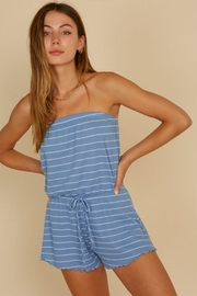 blue blush Strapless Tube Romper - Product Mini Image