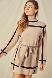 blue blush Stripe Point Dress - Product Mini Image