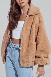 blue blush Teddy Coat - Front cropped