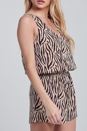blue blush Tiger Stripe Romper - Front full body