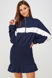 blue blush Track Jacket Dress - Product Mini Image