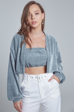 blue blush Tube Cardigan Set - Product List Image