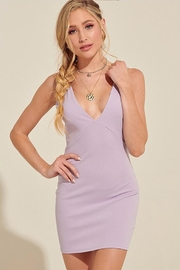 blue blush Twist Back Dress - Product Mini Image