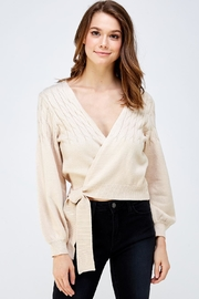 blue blush Wrapped Sweater Top - Product Mini Image