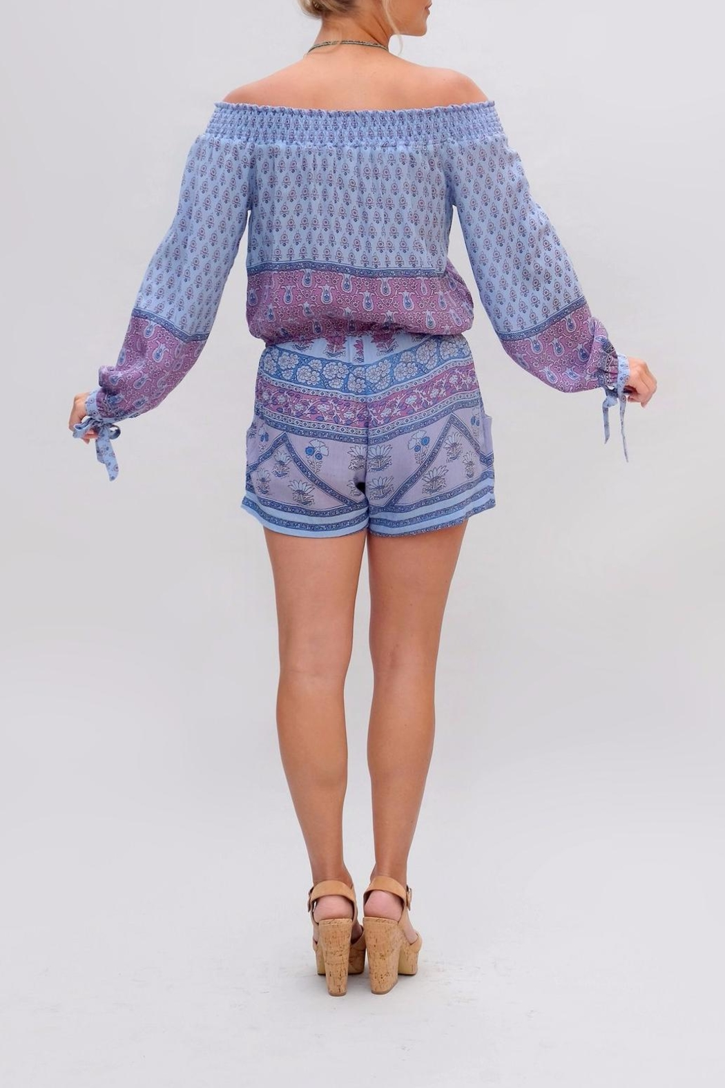 BLUE BOHEME Bella Romper - Side Cropped Image