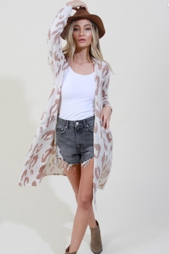 Blue Buttercup Leopard Printed Cardigan - Product List Image