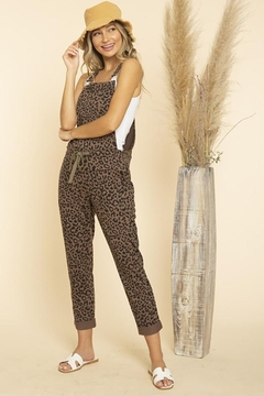 Blue Buttercup Leopard Printed Jumpsuit Overall - Alternate List Image