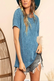 Blue Buttercup Mineral Dye Top - Front full body