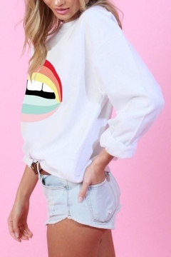 Blue Buttercup Rainbow Lip Sweatshirt - Alternate List Image