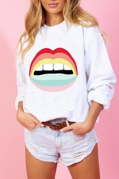 Blue Buttercup Rainbow Lip Sweatshirt - Product List Image