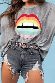 Blue Buttercup Rainbow Lips Tee - Product Mini Image