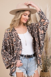 Blue Buttercup Snake Printed Kimono Cardigan - Product Mini Image