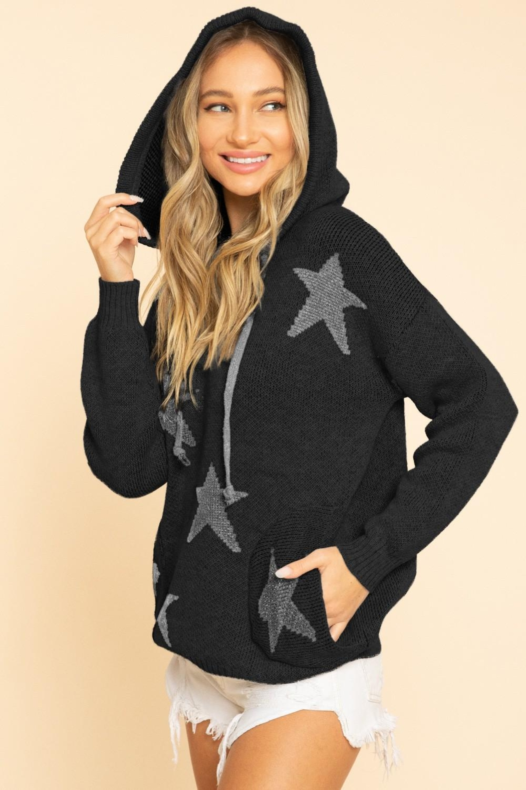 Blue Buttercup Stars Sweaters - Front Cropped Image