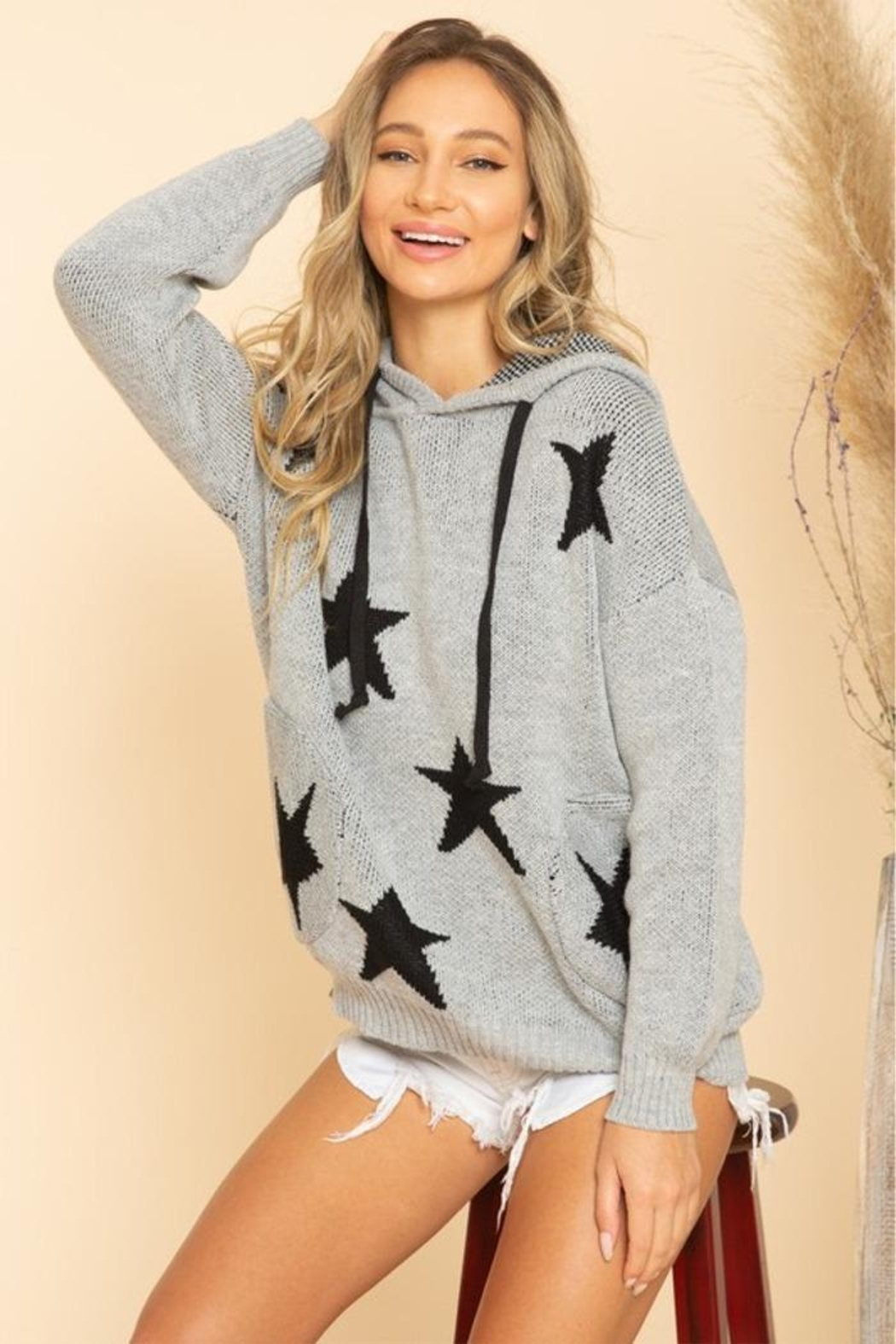 Blue Buttercup Stars Sweaters - Front Full Image