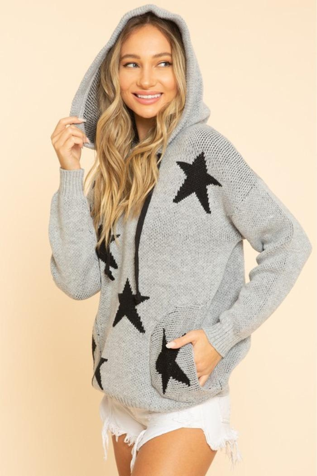 Blue Buttercup Stars Sweaters - Side Cropped Image