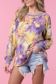 Blue Buttercup Tie Dye Sweatshirt - Product Mini Image