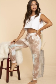 Blue Buttercup Tie Dye Swseatpants - Front full body