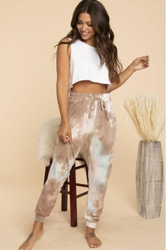 Blue Buttercup Tie Dye Swseatpants - Product List Image