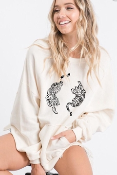 Blue Buttercup Tiger Pocket Sweater - Product List Image