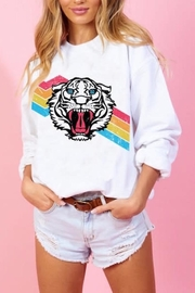 Blue Buttercup Tiger Rainbow Sweatshirt - Product Mini Image