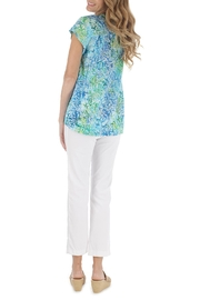 Blue Ginger Lily Top - Front full body