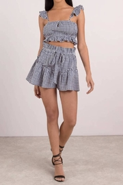 Blue Life Cherie Gingham Top - Product Mini Image