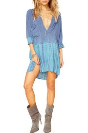 Blue Life Denim Shirt Dress - Front cropped