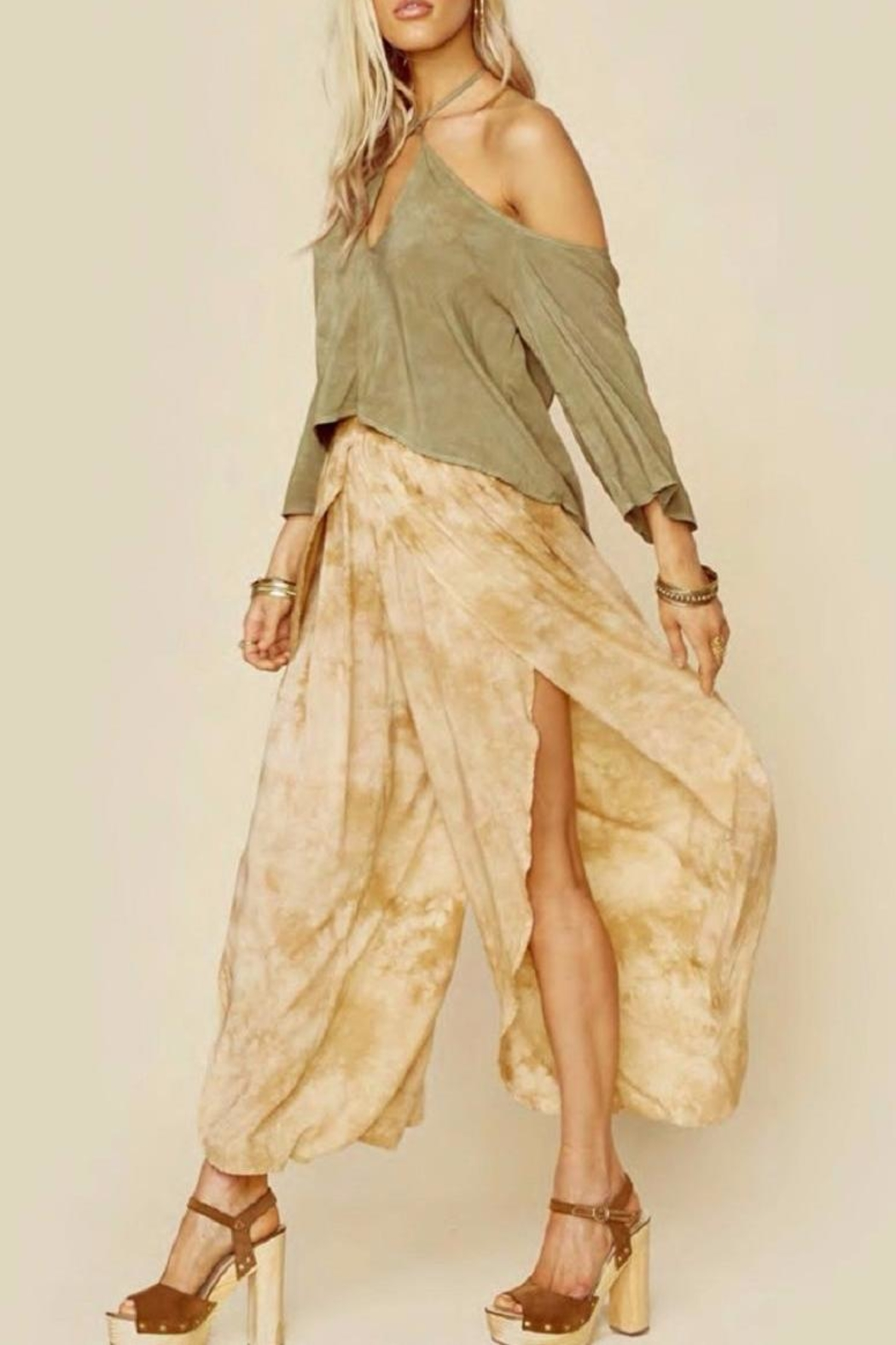 Blue Life Jeanne Wrap Culotte Pants - Front Full Image