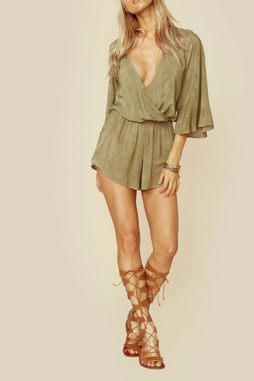 Blue Life Wild & Free Romper - Front Cropped Image