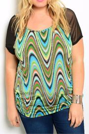 Blue Note Plus-Sized Colorful Top - Product Mini Image