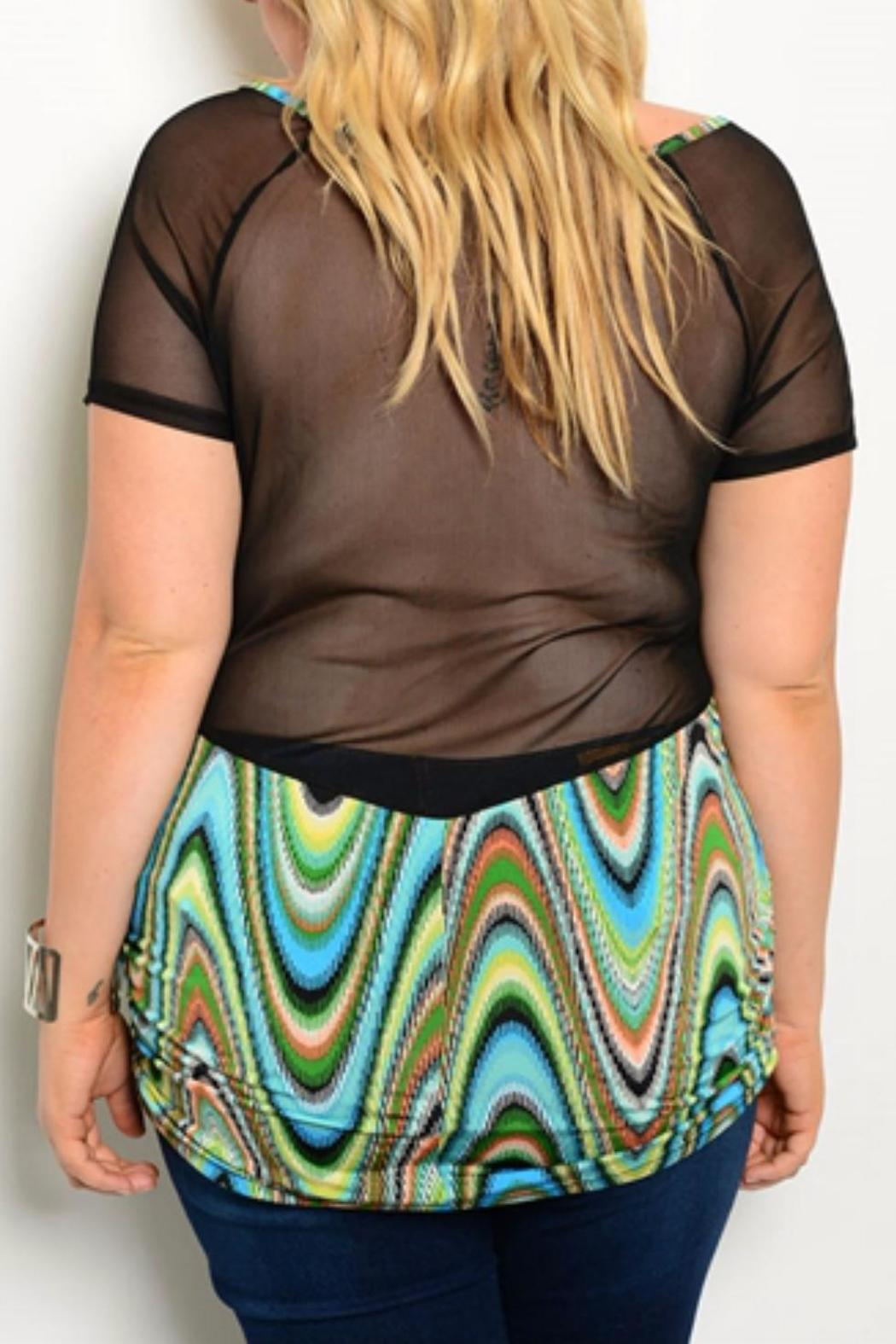 Blue Note Plus-Sized Colorful Top - Front Full Image