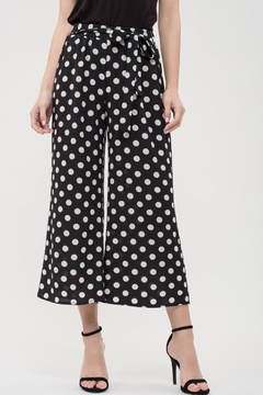 Blue Pepper Dot Semi-Cropped Pant - Product List Image
