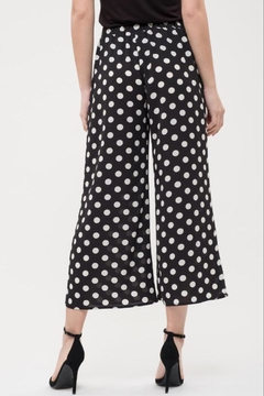 Blue Pepper Dot Semi-Cropped Pant - Alternate List Image