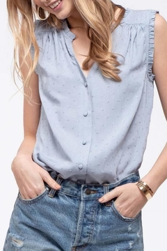 Blue Pepper Monochrome Dot Top - Product List Image