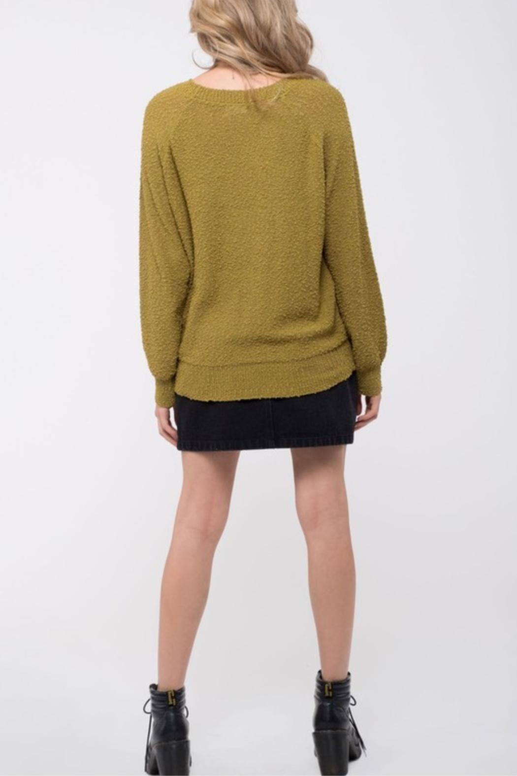 Blue Pepper Popcorn Knit Sweater - Front Full Image