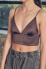 Blue Pepper Silky Bra Top - Front cropped