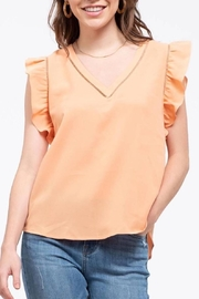 Blue Pepper Tangerine Flutter Top - Product Mini Image