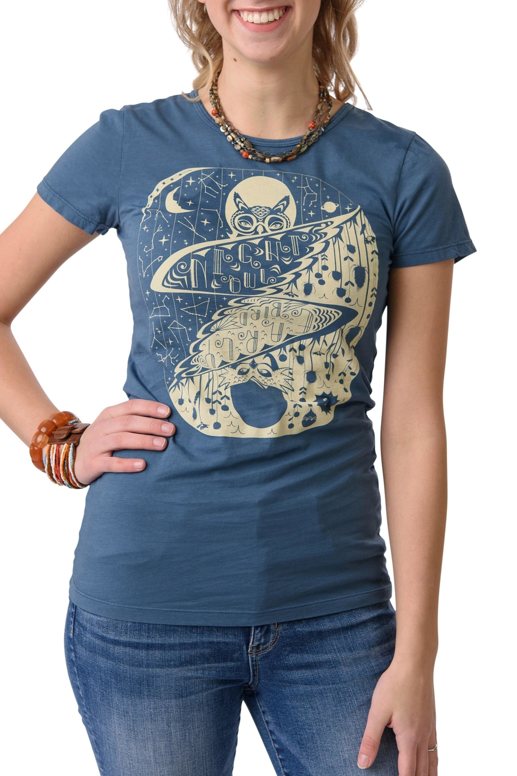 Blue Platypus Night Owl Tee - Front Cropped Image