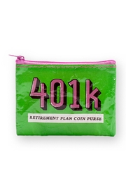 Blue Q 401k Coin Purse - Front cropped