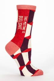 Blue Q BS Meeting Socks - Front cropped