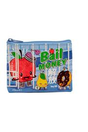 Blue Q Money Coin Purse - Front cropped