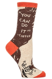 Blue Q Can Do It Socks - Front cropped